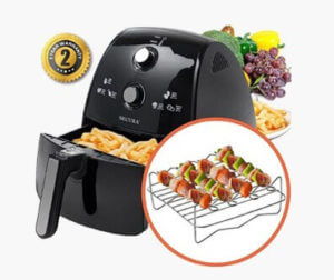 Features and Overview of Secura 1500 Watt Extra Large Capacity 4-Liter Electric Hot Air Fryer