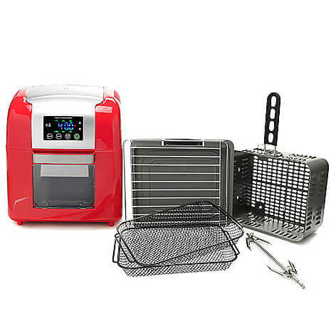 Todd English 1500w 9.8 qt Multi Function Digital Air Fryer & Rotisserie