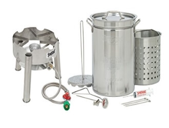 Bayou Classic 1195SS Stainless Steel 32 Quart Turkey Fryer Kit