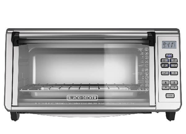 BLACK+DECKER 6-Slice Digital Convection Countertop Toaster Oven